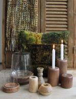 Kandelaars en windlichten van hout