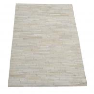 Vloerkleed leather white met bijpassend kussen in verschillende maten